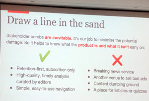 Draw a line in the sand - Richard Holden – How the Economist is changing the way it builds digital products - IMG_7135